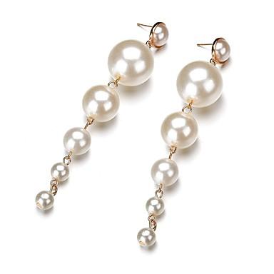 Pentru femei Perle Cercei Rotunzi - Imitație de Perle Minge Clasic, Modă Auriu Pentru Zilnic