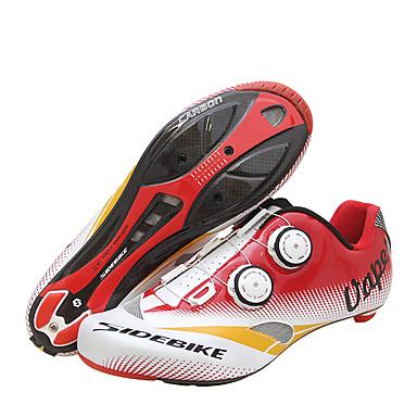 SIDEBIKE Odrasli Biciklističke cipele s pedalom i kopčom / Obuća za cestovni bicikl Karbonska vlakna Cushioning Biciklizam Red / White Muškarci