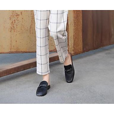 Cuir Chaussures Sabot Talon Noir amp; Mules Confort 06770502 Plat Femme Eté 6pnFxPw6f