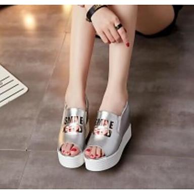 Blanc Sandales Confort Argent Polyuréthane 06792569 Creepers Eté Femme Chaussures wBYxqIz