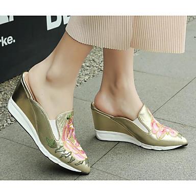 des chaussures en cuir nappa - confort printemps / été du confort - des sabots et mules wedge talon or / noir b659e8