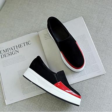 Confort 06797266 Femme Nappa fermé Printemps Rouge Eté Chaussures Cuir Mocassins et Chaussons Plat Talon D6148 Bout Noir Argent xrw1UqXr