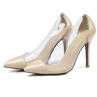 Mujer Tacones Stiletto Primavera Cuero Tacón Negro Rojo 06828175 Confort Zapatos Patentado Almendra pXrpwqH
