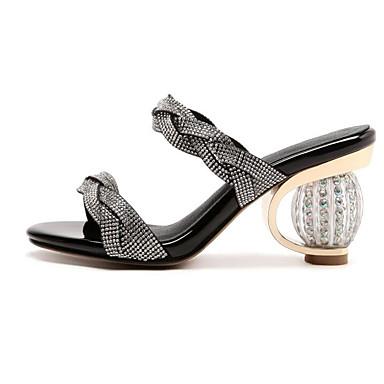 06801340 Confort Blanc Chaussures hétérotypique Escarpin Microfibre Noir Talon Sandales Eté Basique Femme AUwqpPAn