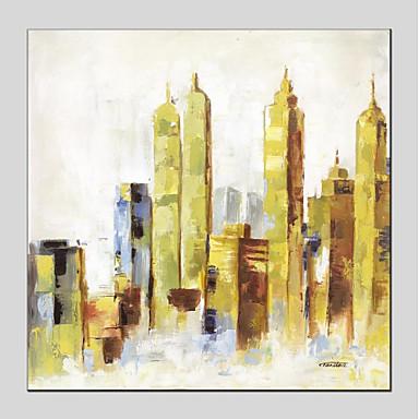 Hang oslikana uljanim bojama Ručno oslikana - Arhitektura Moderna Uključi Unutarnji okvir / Prošireni platno
