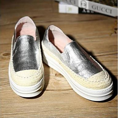 Mocassins Argent rond Eté D6148 Noir et Femme Plat Chaussons 06791592 Chaussures Nappa Cuir Blanc Talon Bout Confort Rq77xZFXw