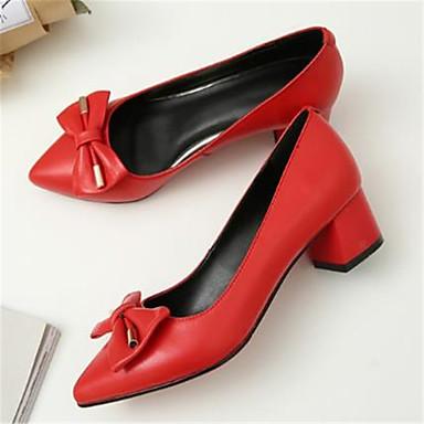 été Basique 06785640 à Chaussures Bottier Talon Cuir Noir Femme Bout Printemps Escarpin Chaussures Rouge pointu Talons 1ZtFZqnx
