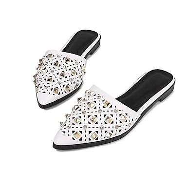 Noir amp; Blanc Confort Mules 06781752 Cuir Plat Verni Femme Chaussures Sabot Eté Talon wpxFqSSZP