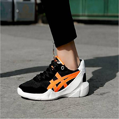 Creepers Basket Cuir Chaussures été Nappa Confort Printemps Femme Orange Vert clair 06796467 W0RqHwYw