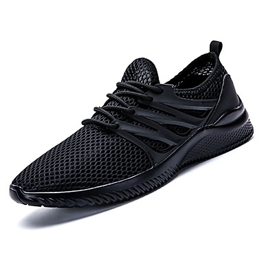 Men's Mesh Summer Comfort Athletic Shoes Walking Shoes Gray White / Black / Gray Shoes 0e8ed0