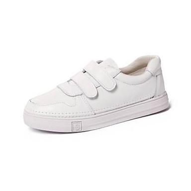 Femme Nappa Basket Bout Plat Blanc Talon Cuir 06831678 Eté Printemps Chaussures Confort fermé r1wnxUqZrE