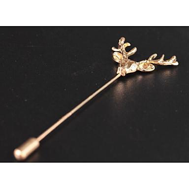 voordelige Herensieraden-Heren Broches Lang Hert Modieus Brits Broche Sieraden Goud Zilver Voor Formeel Afspraakje