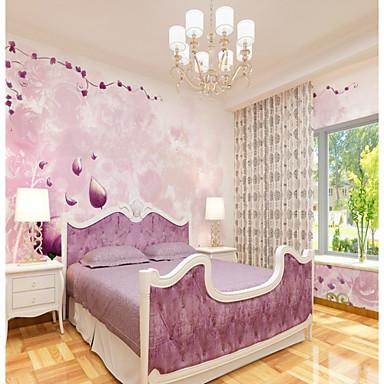 levne Tapety-zakázkové 3D nástěnné malby tapety růžové květiny ilustrace vhodné pro restauraci pozadí stěny pokrývající 448 × 280cm