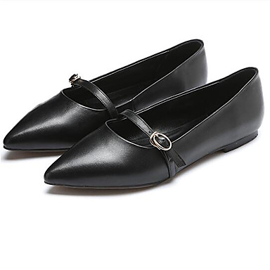 des chaussures en cuir nappa confort d'été flats croûton croûton croûton fermé orteil noir et beige 78b1c2
