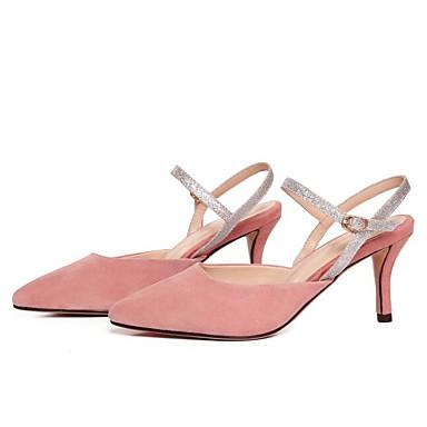 Noir Eté Arrière Boucle Femme Bout A Rose Talon Chaussures Daim 06775042 Aiguille Sandales pointu Bride 7gXXExASqw