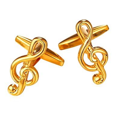 voordelige Herensieraden-Manchetknopen Muzieknoot Formeel Modieus Broche Sieraden Zilver Gouden Voor Lahja Dagelijks