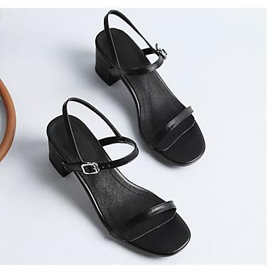 Confort 06810754 Sandales Eté Talon Noir claire Basique Amande Brun Bottier Cuir Chaussures Nappa Escarpin Femme wgaHH