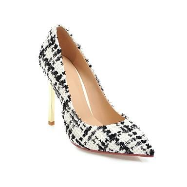 Chaussures Printemps Talons Talon Chaussures Blanc Noir Aiguille à été Lin Amande 06825917 Confort Femme RqwxE6qd