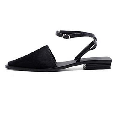 Crin 06789751 de Eté Confort Femme Chaussures Talon Printemps Noir Blanc amp; Mules Plat Sabot Cheval 6qEg5Aw5