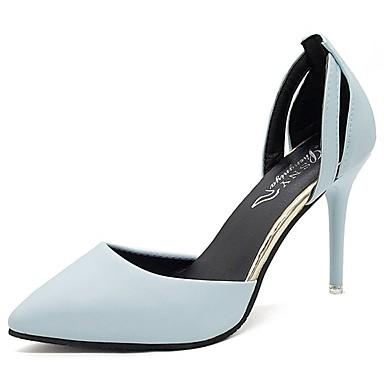 Žene Cipele PU Ljeto D'Orsay cipele Cipele na petu Stiletto potpetica Krakova Toe Crn / Plava / Pink