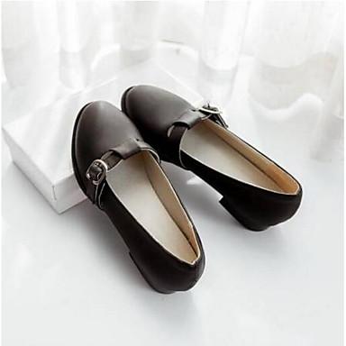 Mujer Zapatos Beige Verano 06810019 Tacón Confort Punta Plano Negro PU Rosa cerrada Bailarinas U6nxS6r