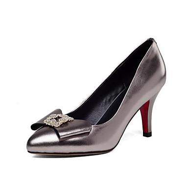 Rouge Confort à Aiguille Nappa Argent 06827827 Femme Talon Talons Noir Chaussures Cuir Chaussures Automne Y4qIHw7I