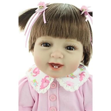 NPKCOLLECTION NPK DOLL בובה מחדש בובת נערה תינוקות בנות 24 אִינְטשׁ ויניל - יָלוּד כְּמוֹ בַּחַיִים בטוח לשימוש ילדים אינטראקציה בין הורים לילד יד מושרשת ריסים ידניים הילד של בנות צעצועים מתנות