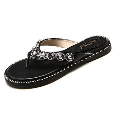 Plano Negro Zapatos Confort Tacón Beige Mujer flip y PU Zapatillas 06826122 Verano flops zvRKKwUqdB
