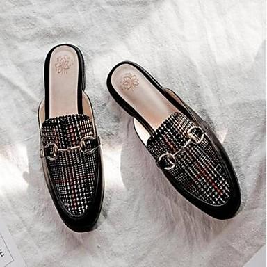 Printemps Confort Jaune Mules Sabot Femme Chaussures Cuir Nappa fermé Plat Noir Eté Bout Talon 06840614 amp; nq1XtnSW6