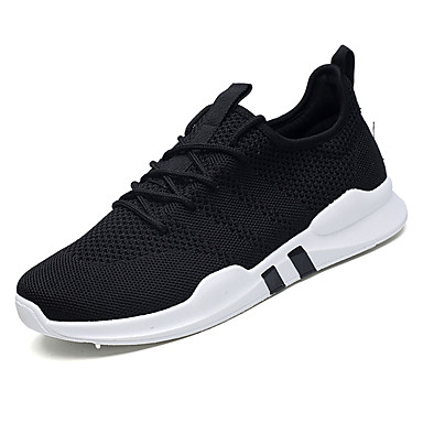 Men's Knit / Elastic Fabric Summer Comfort Athletic / Shoes Running Shoes White / Athletic Black / Gray 8328f0
