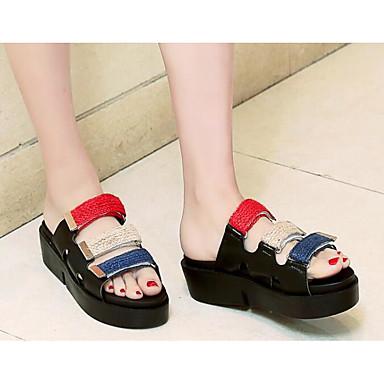 Vert Confort Blanc 06781786 Chaussures Femme Plat Talon Tongs Noir amp; Eté Polyuréthane Chaussons qTZwPU