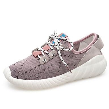 Women's Shoes Mesh Summer Shoes Comfort Athletic Shoes Walking Shoes Summer Flat Heel Round Toe Black / Pink d89958