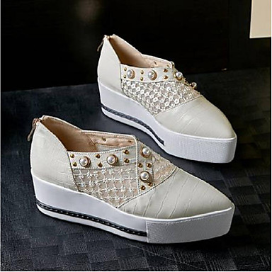 Chaussures Nappa Printemps Chaussons Confort D6148 et Creepers Beige Femme Cuir Noir 06792296 Mocassins 6qdU6A