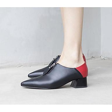Chaussures Escarpin Femme Cuir à Noir Printemps Confort Talons Automne Bottier 06791299 Talon Nappa Amande Basique Chaussures wYSxq8