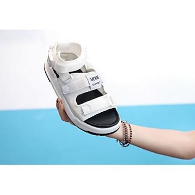 élastique Printemps Noir Tissu Rose Chaussures Femme Blanc Confort été Sandales 06792341 Creepers wxZEptq