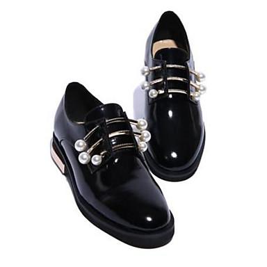 Žene Mekana koža Proljeće ljeto Udobne cipele Ravne cipele Ravna potpetica Zatvorena Toe Crn