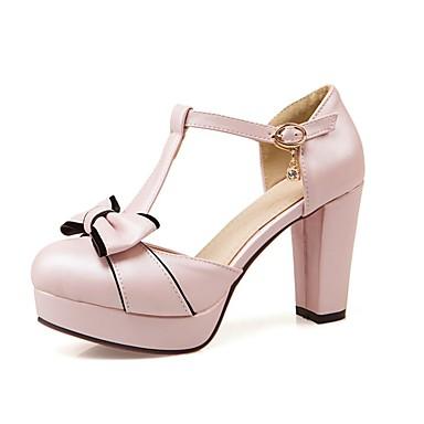 Talons été Blanc Rose Femme Chaussures royal à Polyuréthane Confort Chaussures Bleu Printemps Bottier Talon 06840367 vvxtP0w