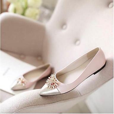 Noir Cuir de Femme Croûte Printemps Chaussures Rose Confort Eté Peau Bout de Creepers mouton 06792408 Ballerines fermé FwxxT6Yq