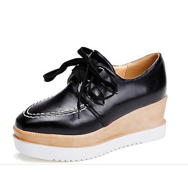 Žene Cipele PU Ljeto Udobne cipele Oksfordice Creepersice Obala / Crn / Pink