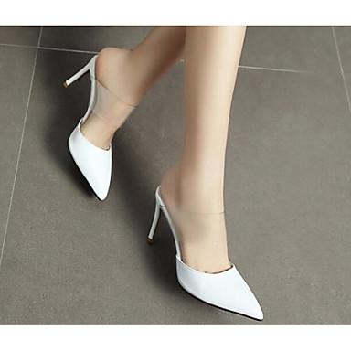 Nappa Mules amp; Blanc Sabot Cuir Escarpin Printemps Femme 06791710 Noir Talon Basique Aiguille Chaussures 80FqWE