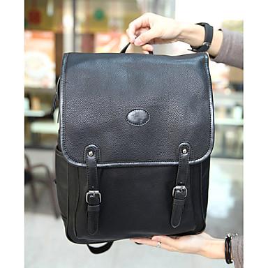 Muškarci Torbe PU Školska torba Patent-zatvarač Crn