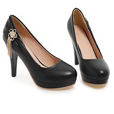 Talon Printemps Beige Bout 06793071 Basique Talons Femme Polyuréthane été Aiguille Noir Chaussures Chaussures Escarpin à rond Rose 6ExPEz