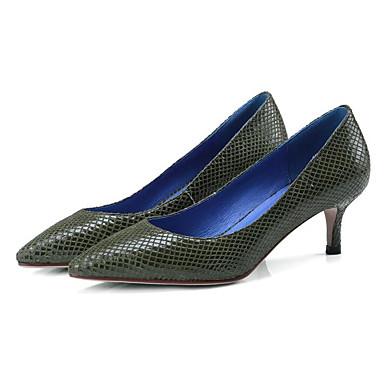 Peau Chaussures Vert Femme Printemps Talon mouton Automne Jaune Escarpin Chaussures Talons Confort de Basique Aiguille à 06833024 S45Zqrxd5