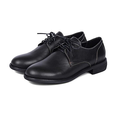Nappa Confort Automne Femme Bourgogne Chaussures Talon Cuir 06794833 Bas Noir Oxfords Printemps XnwqFEIxq
