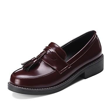 Confort 06797100 Bottier Microfibre Femme Chaussons Vin Mocassins été Noir Printemps et Chaussures D6148 Talon SnHaOI