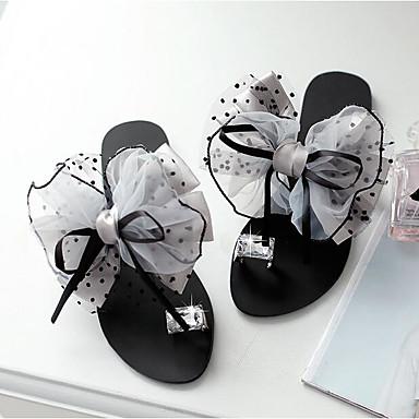 Tacón Satén y Plano Malla Frontal de 06778003 Fiesta Flor flops Gris PU y Noche flip verano Confort Zapatos Zapatillas Mujer Anillo Negro abierta Primavera Puntera 7q4xwUpzF