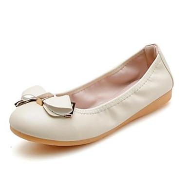 Žene PU Ljeto Udobne cipele Ravne cipele Ravna potpetica Okrugli Toe Obala / Crn / Pink