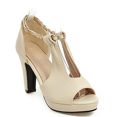 Sandalias Rosa Tacón Beige Zapatos Mujer Confort Verde PU Stiletto Verano 06833531 OnIxzWa
