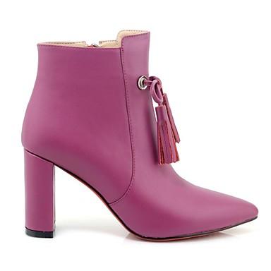 hiver Chaussures Noir à Nappa Talons 06835428 Violet Confort Automne Femme Chaussures Talon Cuir Bottier qxYw6p6