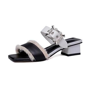 Bottier 06834872 Chaussures Talon Confort Rose Noir Cuir Nappa Sandales Eté Femme dawP0qW0